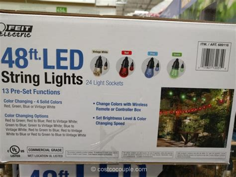 costco string lights feit electric 48 ft led string lights