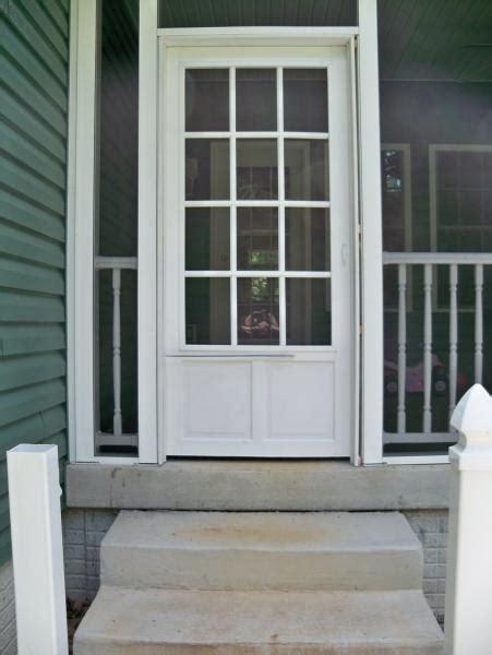 screened in porch doors screened porch door flimsy vinyl door and needs door to