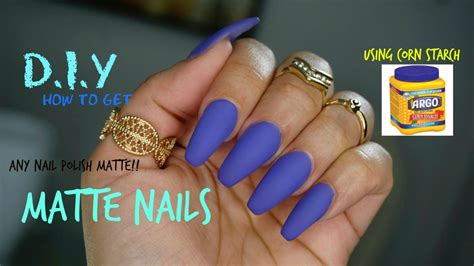 How To Make Any Nail Polish Matte D.i.y (using Corn Starch