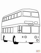 Bus Coloring London Pages Double Decker Printable Buses British Drawing Dot sketch template