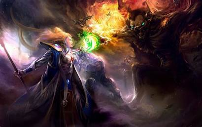 Witch Dark Background Wallpapers Fantasy Wall