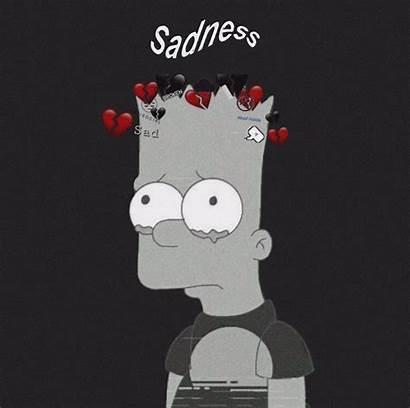 Sad Simpsons Aesthetic Wallpapers Cartoon Simpson Bart