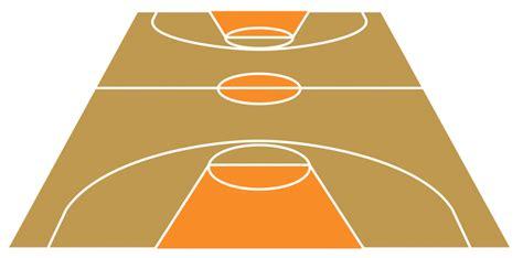 Outdoor Basketball Court Template Basketball Court Clipart Clipartion