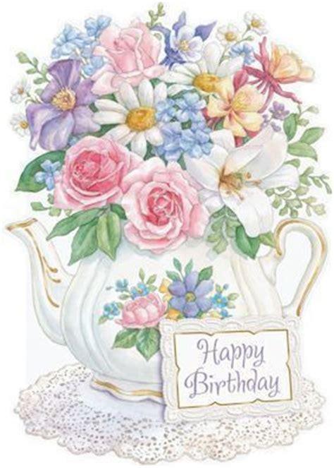 carol wilson stationery flowers  teapot birthday