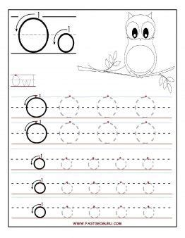 free printable letter o tracing worksheets for preschool