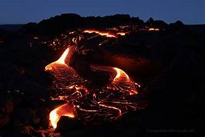 Hawaiian Lava Daily  Large Area Of Crusting Lava On The