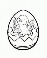 Easter Coloring Pages Chick Egg Drawing Cartoon Draw Popular Getdrawings sketch template