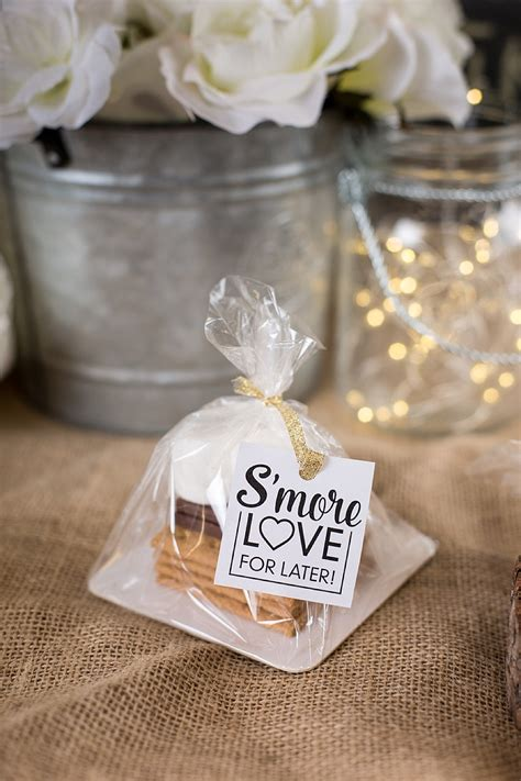 Diy Smores Wedding Favors Weddinglovely Blog