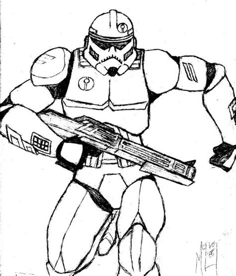 Clone Trooper Kleurplaat by Clone Trooper Coloring Page Coloring Home