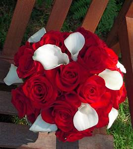 Red/Red & White Wedding Bouquets - BB0236-Red Rose and ...