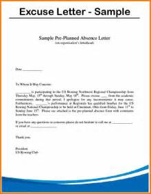 5 Excuse Note For School Resume Reference