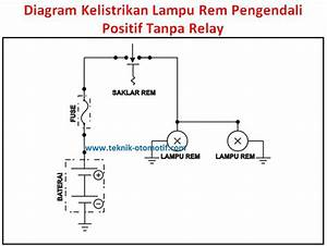 Fungsi Lampu Rem Dan Komponen Kelistrikan Lampu Rem Serta Diagram Kelistrikan Lampu Rem