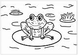 Coloring Frogs Frog Pages Cute Printable Sheet Colouring Sheets Children Drawing Justcolor Animals Drawn Baby Pond Happy Animal sketch template
