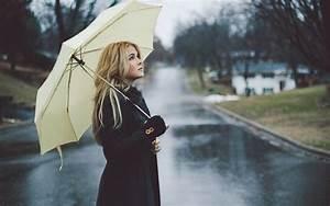 Women, Blonde, Rain, Umbrella, Street, Long, Hair, Lenay, Dunn, Hd, Wallpapers, Desktop, And, Mobile