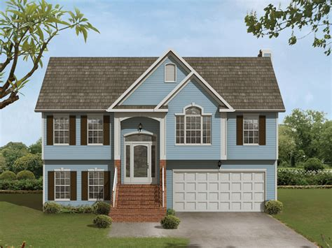 Whitney Place Split-level Home Plan 013d-0054