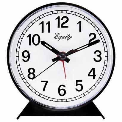 Clock Alarm Equity Round Crosse Analog Clocks