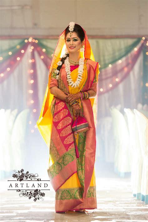 bangladeshi bride  haldi asian wedding dress indian