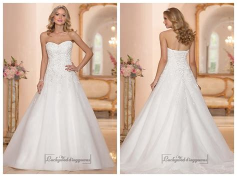 Strapless Sweetheart Embellished Lace Bodice A-line