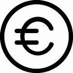 Euro Icon Icons Pictogram Thin Gratis Line