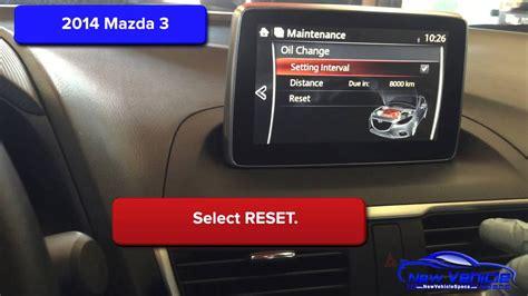 mazda  oil light reset service light reset youtube
