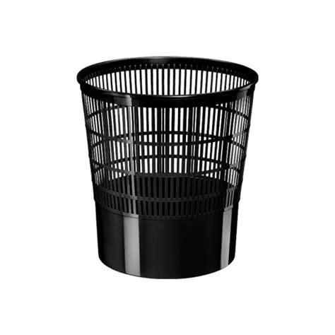 poubelles de bureau corbeille à papier basics by cep 16l noir poubelle