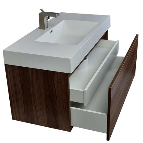 modern bathroom vanity  walnut finish tn  wn