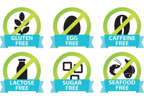 Food Allergy Icons Download Free Vector Art Stock