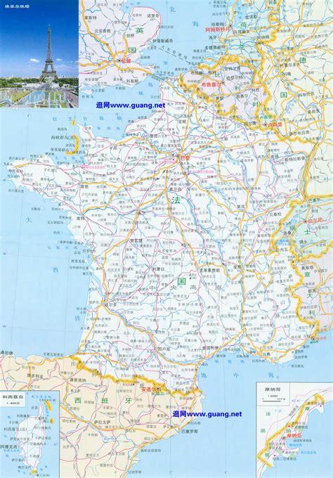 法国地图,摩纳哥地图