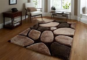 tapis salon marron chocolat chaioscom With tapis shaggy avec gifi canape convertible