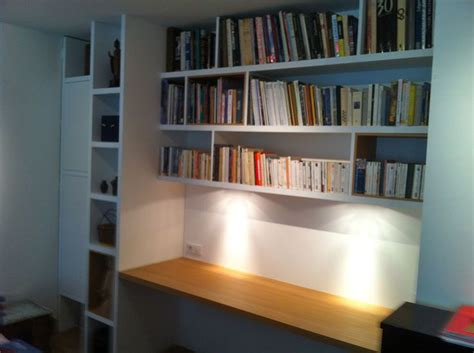 bureaux sur mesure bureau bibliothèque sur mesure en chêne naturel mat