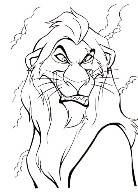 coloring page  lion king coloring pages