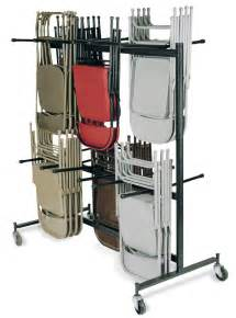 black color metal folding chair storage rack with wheels