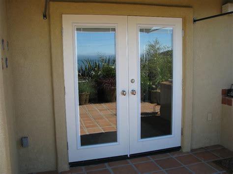 fiberglass patio doors with built in blinds sliding