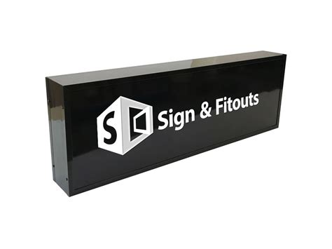 single sided rectangular light box sign sign  fitouts
