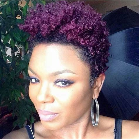 Natural Hair Dyed Purple In 2019 Dyed Natural Hair