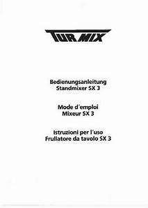 Turmix Sx 3 Mixer Download Manual For Free Now