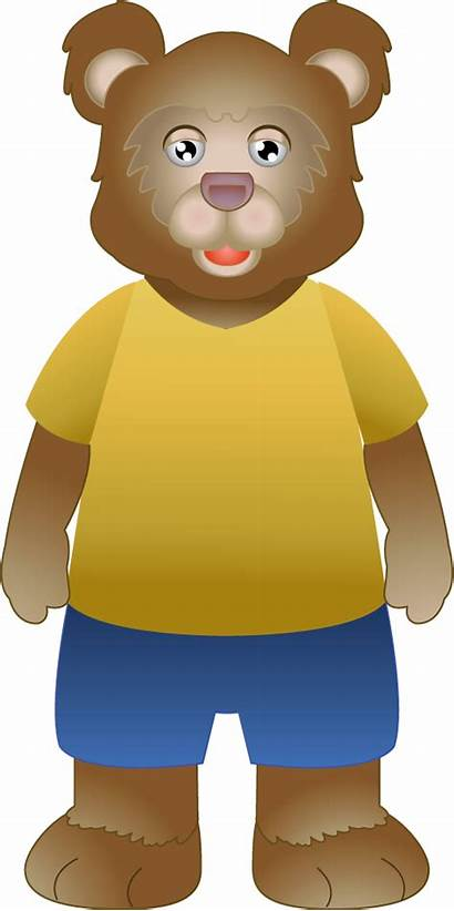 Goldilocks Bear Clipart Clip Bears Three Fables