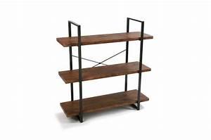 Etagere Industrielle Metal : tag re industrielle bois et m tal 3 niveaux flottage design sur sofactory ~ Melissatoandfro.com Idées de Décoration