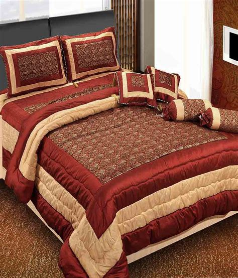 bed with bolster click shoppe brown spark wedding bedding set 8 pcs quilt