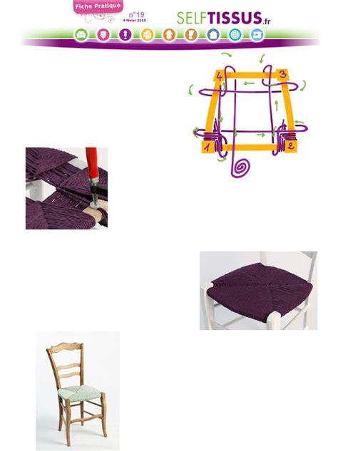 rempailler une chaise avec du tissu 25 best ideas about rempaillage chaise on