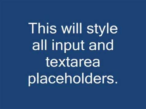 change placeholder color change an input s html5 placeholder color with css