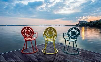 Madison Wisconsin Union Chairs Badgers Uw Sunrise