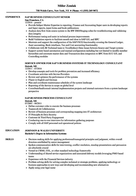 Business Consultant Resume by Sap Business Consultant Resume Sles Velvet