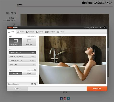 fotomoto photography shopping cart website integration
