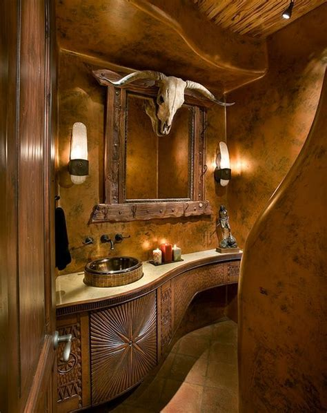 western style bathroom sinks decorating with skulls a bold and daring trend