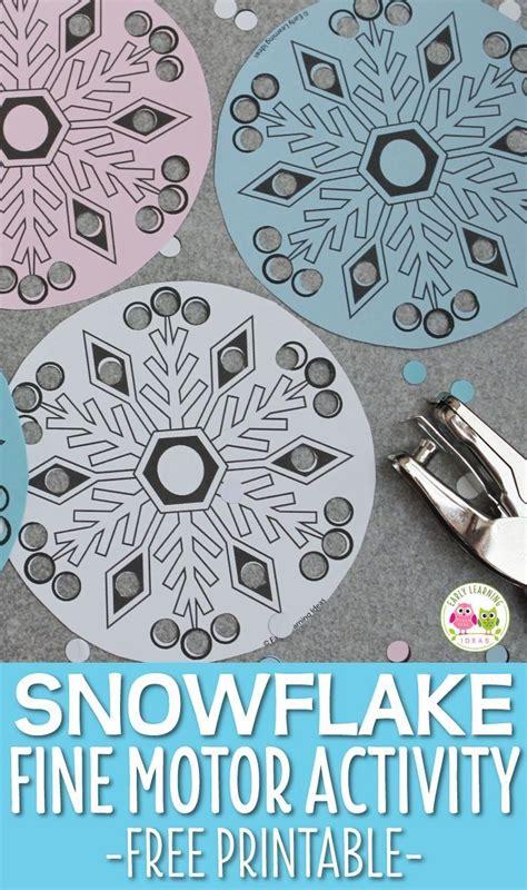 simple snowflake fine motor activity fine motor