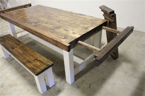 how to build farmhouse dining table with leaves google
