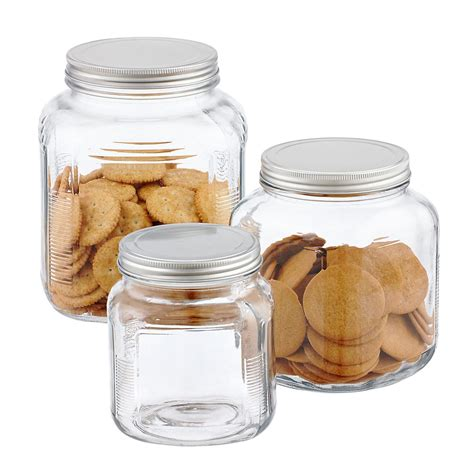 clear glass canisters for kitchen storage jars hermetic glass storage jars the container