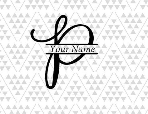 monogram letter p split letter p split letter svg vine etsy letter p tattoo p tattoo