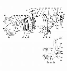 Tub  U0026 Motor Diagram  U0026 Parts List For Model Wpdh8800j1ww Ge